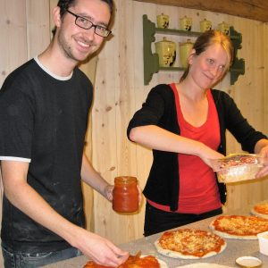 Bilete av pizzabaking